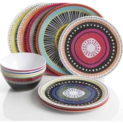 Melamine dinnerware set. The break-resistant melamine is perfect for families with kids! The multi-color design gives you that eclectic designer ...  sc 1 st  Provantage : eclectic dinnerware sets - pezcame.com