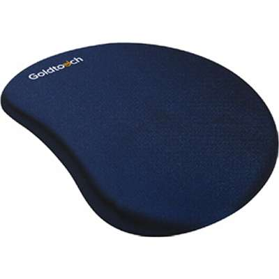 What are mouse pads made of Non Slip The Goldtouch Mouse Pads And Wrist Rests Are Expertly Designed To Give You Hands And Wrists Comfortable Respite While Providing The Ergonomic Support Provantage Provantage Goldtouch Gt60003 Goldtouch Gel Filled Mouse Pad Navy