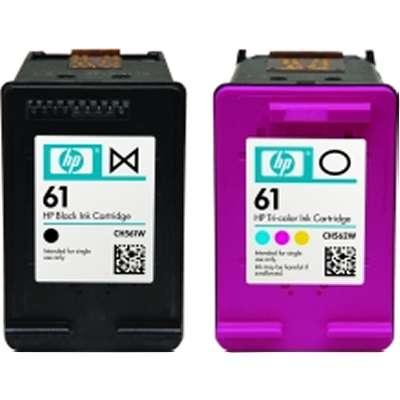 HP 61 Combo-pack Black//Tri-color Original Ink Cartridges