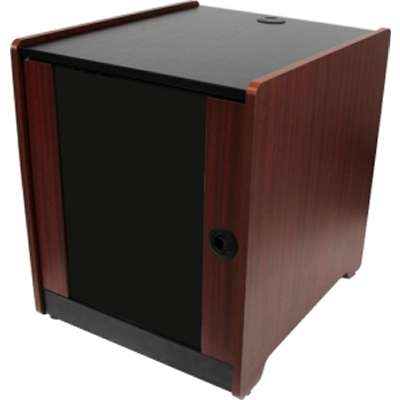 Provantage Startech Com Rkwoodcab12 Av Rack Cabinet Enclosure 12u 21 Inch Depth Wood Finish