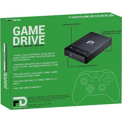 6TB 7200RPM-3 Ports Built-In USB 3.0 Hub Fantom Drives Xbox External Hard Drive