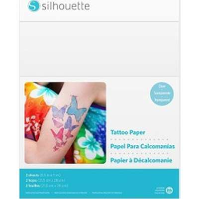 graphic relating to Printable Tattoo Paper named PROVANTAGE: Silhouette Media-TATTOO-3T 2SHEETS Printable