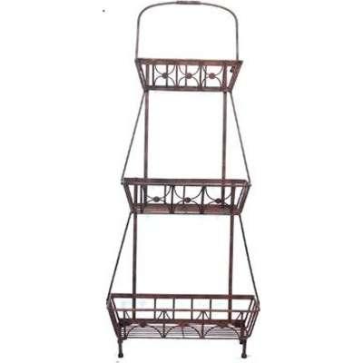 Provantage Deer Park Ironworks Pl242 Steel 3 Basket Floor Planter