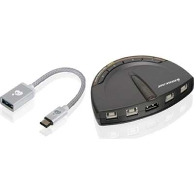 IOGEAR 2 Port USB Automatic Printer Switch With C Adapter